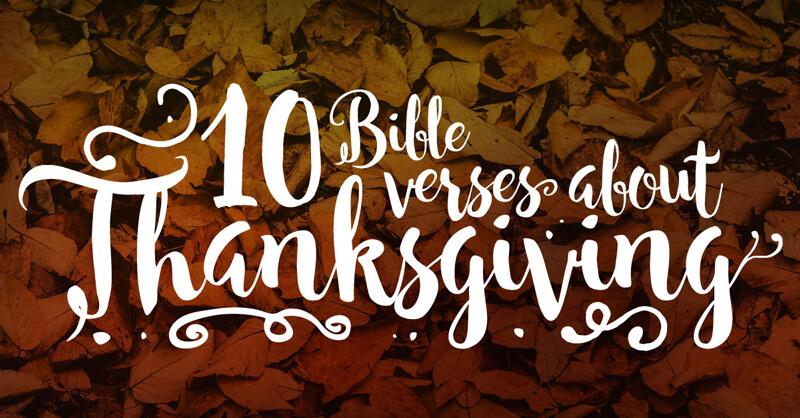 Thanksgiving-Verses